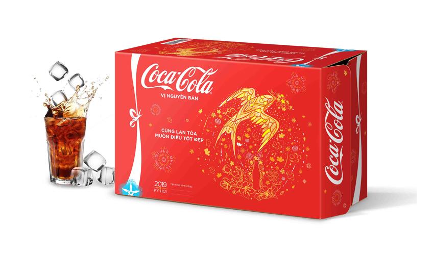 Thùng carton nước ngọt Cocacola